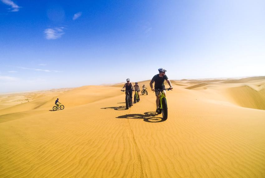 Fat bike tour through the massive red dunes near Swakopmund